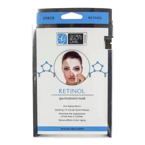 Global Beauty Care Retinol Spa Treatment Face Mask (2-Pack)