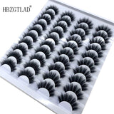 HBZGTLAD 20-Pair Eyelash Book