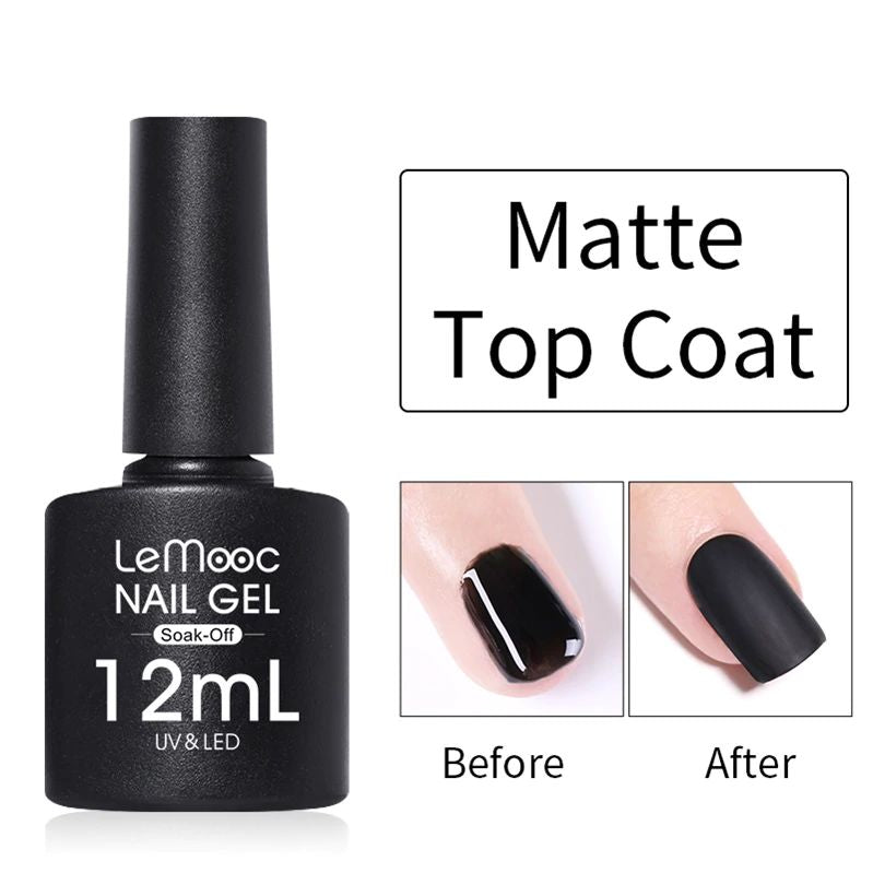 LeMooc Nails UV / LED Matte Top Coat (12ml)