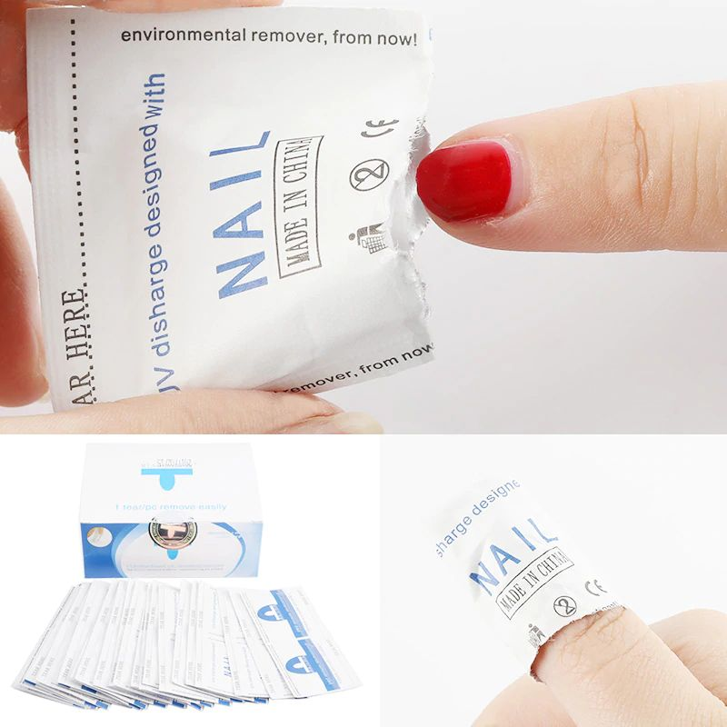 Miaoxi Nail Remover Wipes (100-Pack)