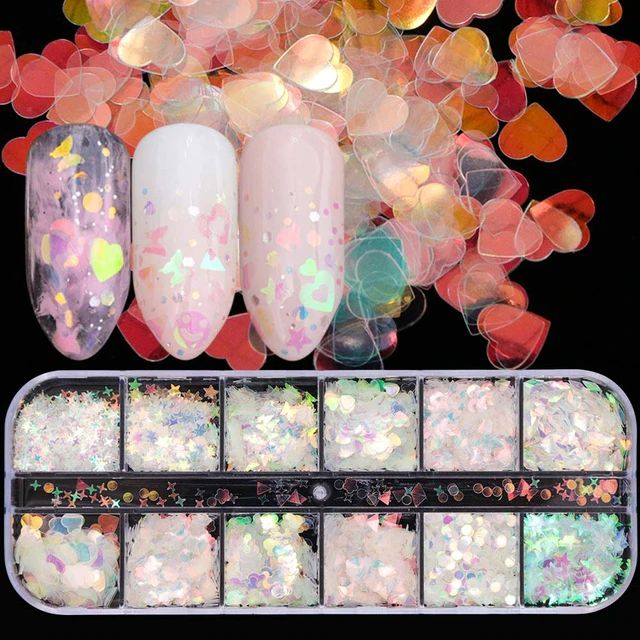 Holographic Cosmic Nail Art Case