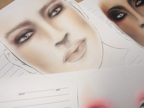 The Face Chart Brand Face Chart - Single Sheet(s)
