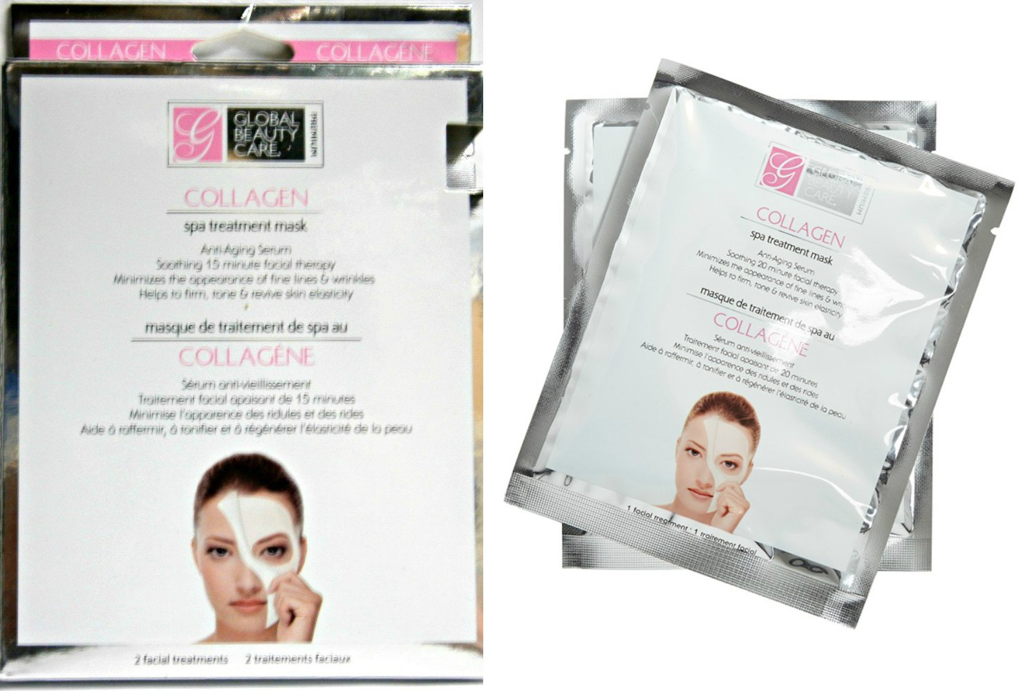 Global Beauty Care Collagen Spa Treatment Face Mask (2-Pack)