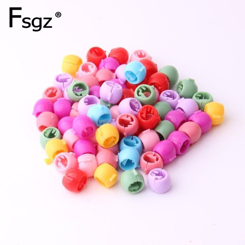 Zinq Clip-On Plastic Hair Beads (80 Pack)