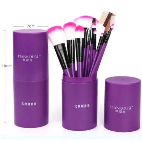 Hankousi 12 Piece Makeup Brush Set