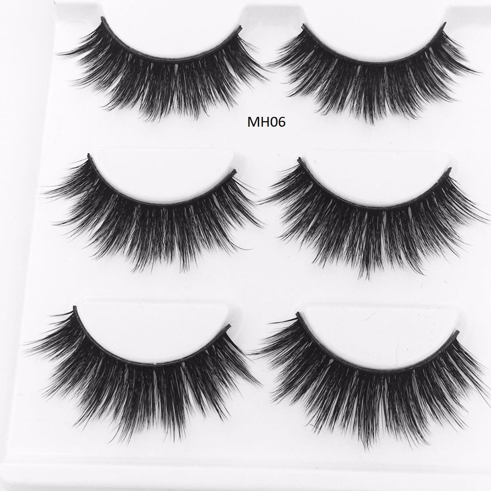 HBZGTLAD Fashion Eyelash 3-Pack
