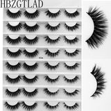 HBZGTLAD 16-Pair Eyelash Books