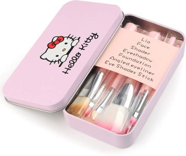 Hello Kitty 7 Piece Makeup Brush Set w/Tin