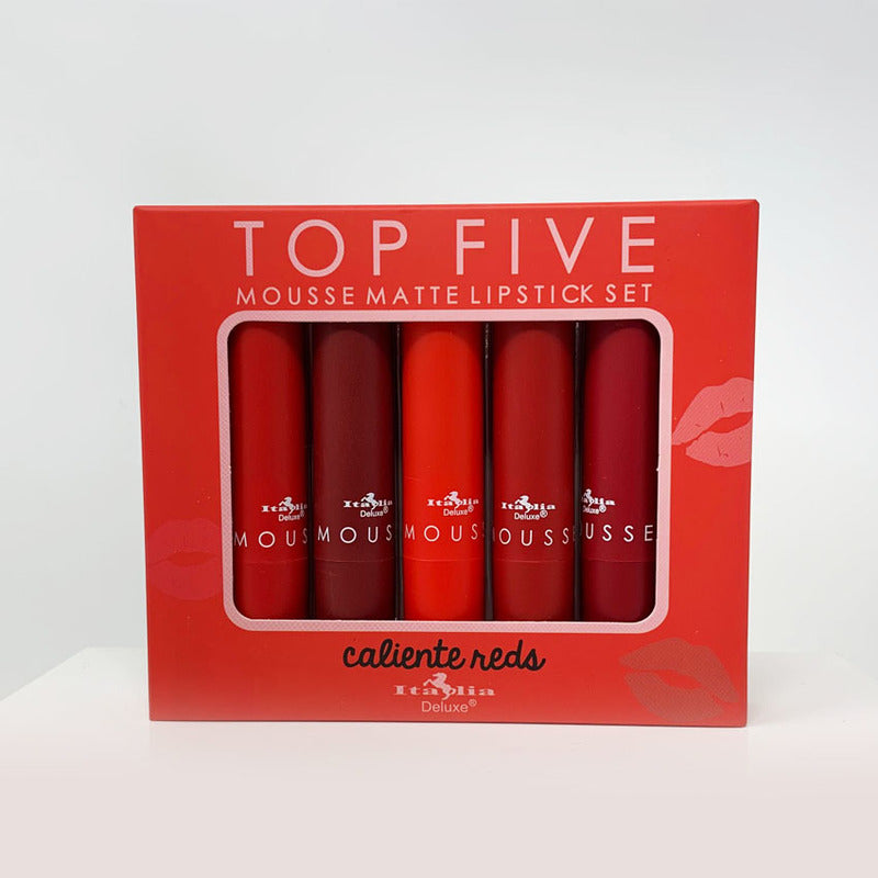 Italia Deluxe Top Five Mousse Matte Lipstick Sets