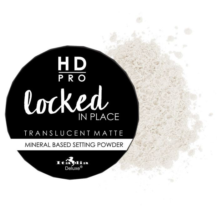 Italia Deluxe HD Pro Locked In Place Translucent Matte Mineral Based Setting Powder