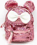 Minnie Bow Sequin Mini Backpack