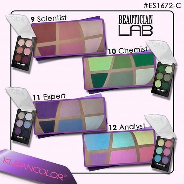 KleanColor Beautician Lab Eyeshadow Quad Palette