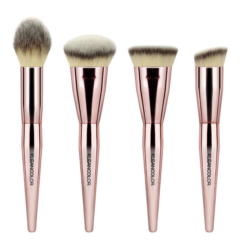 KleanColor Stop & Smell The Roses 4-Piece Contour Brush Set
