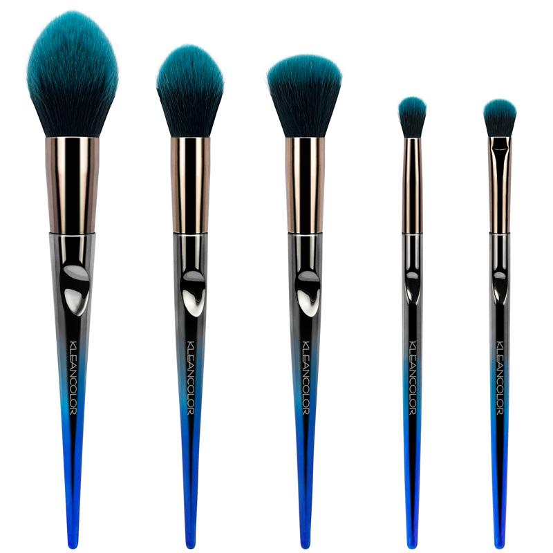 KleanColor Daily Essentials 5-Piece Face & Eye Brush Set