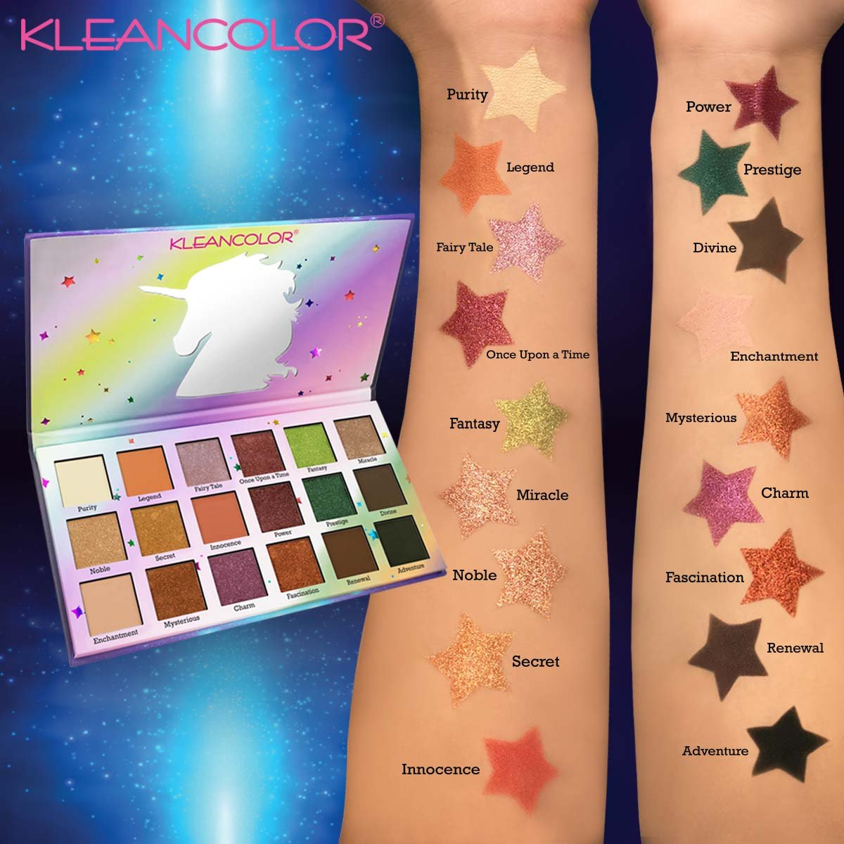 KleanColor Stay Magical Unicorn Eyeshadow Palette