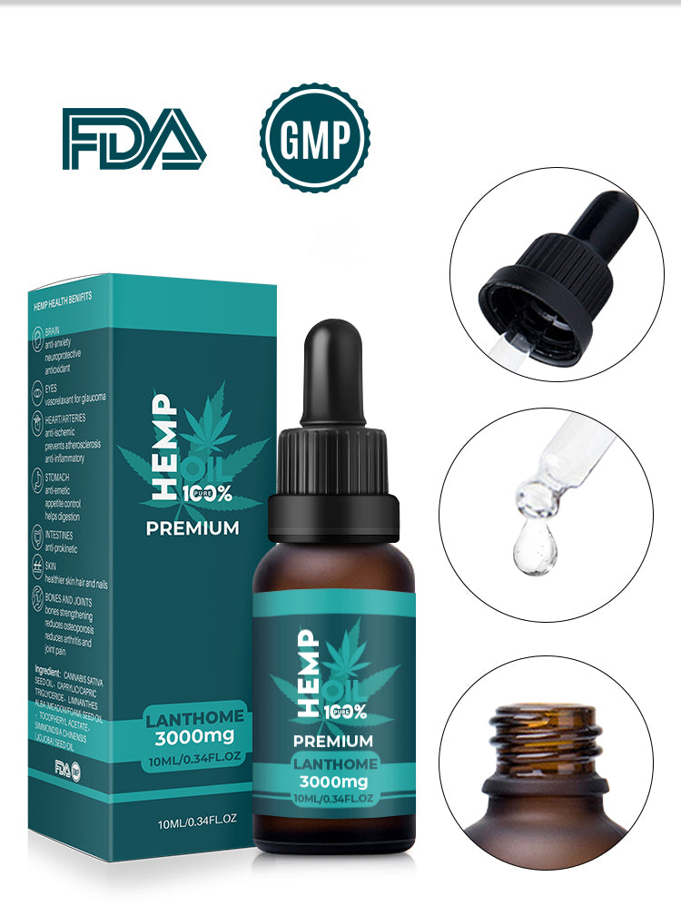 Lanthome 100% Premium Hemp Oil (3000mg)