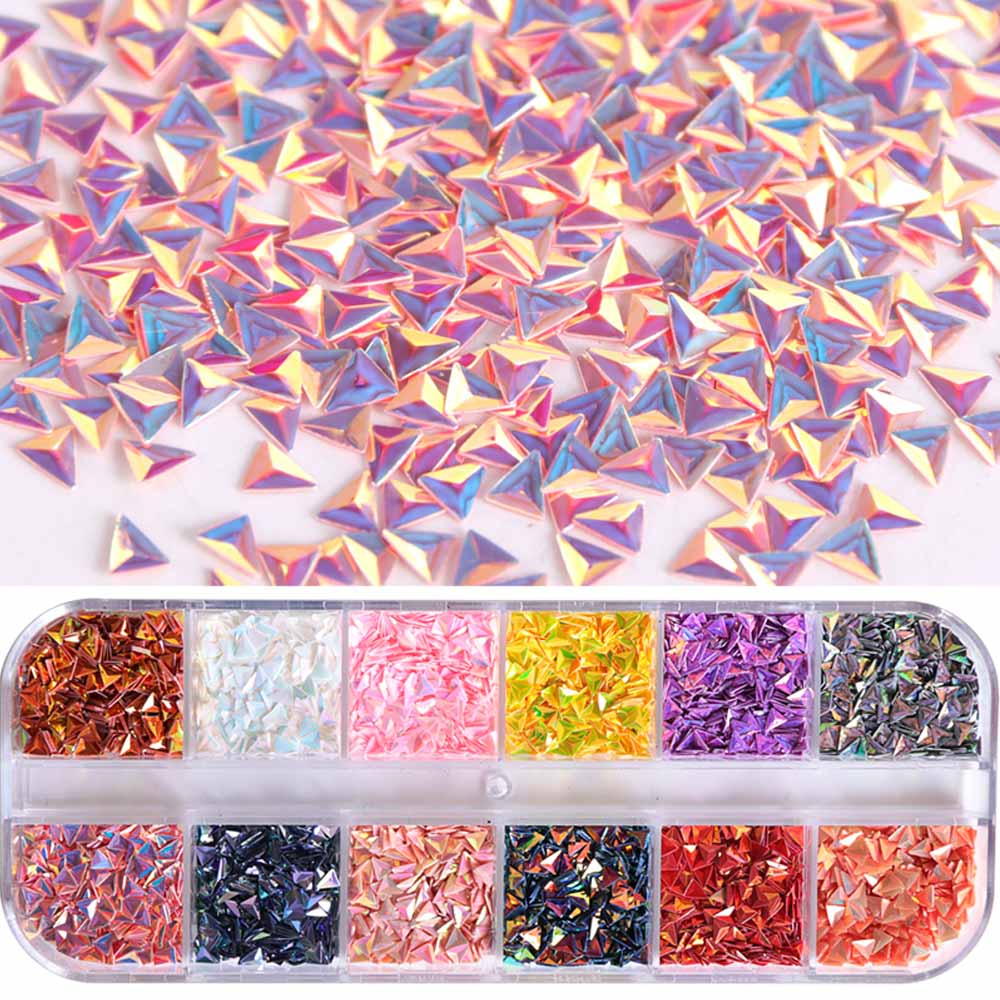 Nail Art Case - Iridescent Foil Flakes