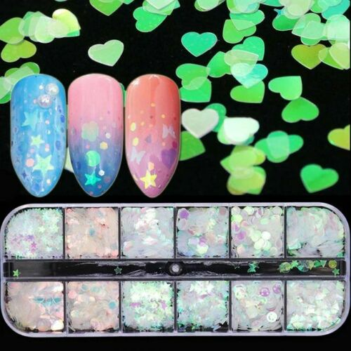 Holographic Nail Art Case - Hearts, Smilies, & More