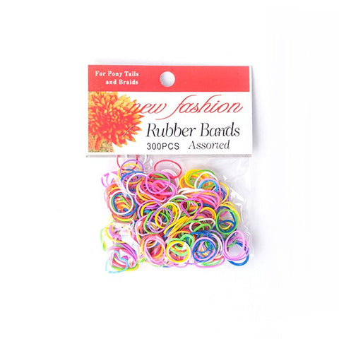 New Fashion Braid & Ponytail Rubber Bands (300ct)