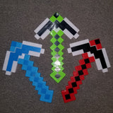 Minecraft Style LED Light Up Pixel Pickaxe w/Sound Effects