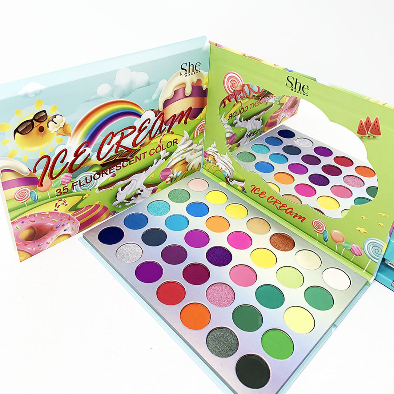 S.he Makeup Fluorescent Ice Cream Eyeshadow Palette
