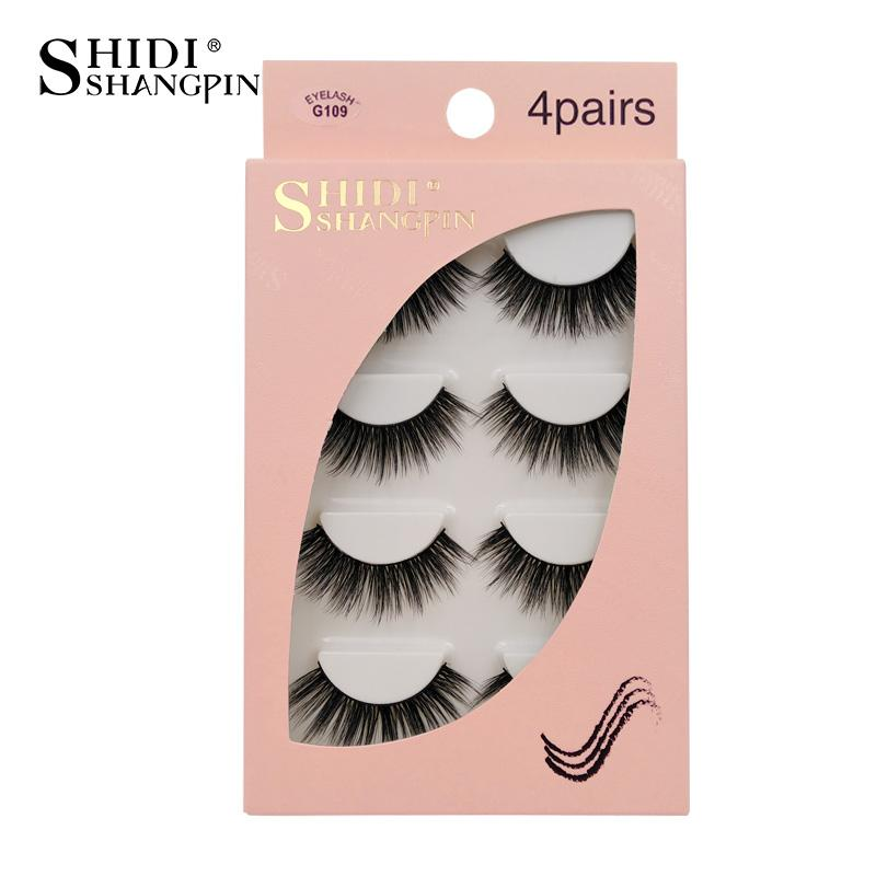 SHIDISHANGPIN 3D Fashion Lashes 4-Pack