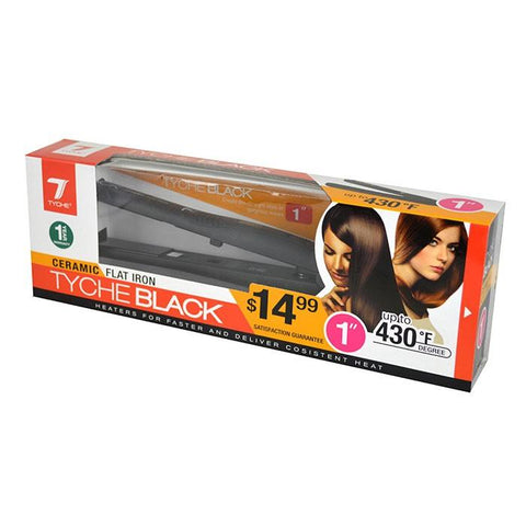 "Tyche Black Plus+ Ceramic Flat Iron Straightener (1"")"