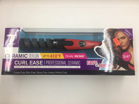 "Tyche Curl Ease Professional Ceramic Teflon Curling Iron (3/4"")"