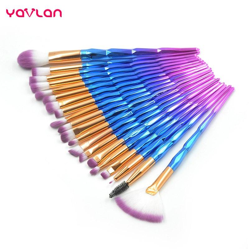 Yavlan 20 Piece Unicorn Makeup Brush Set