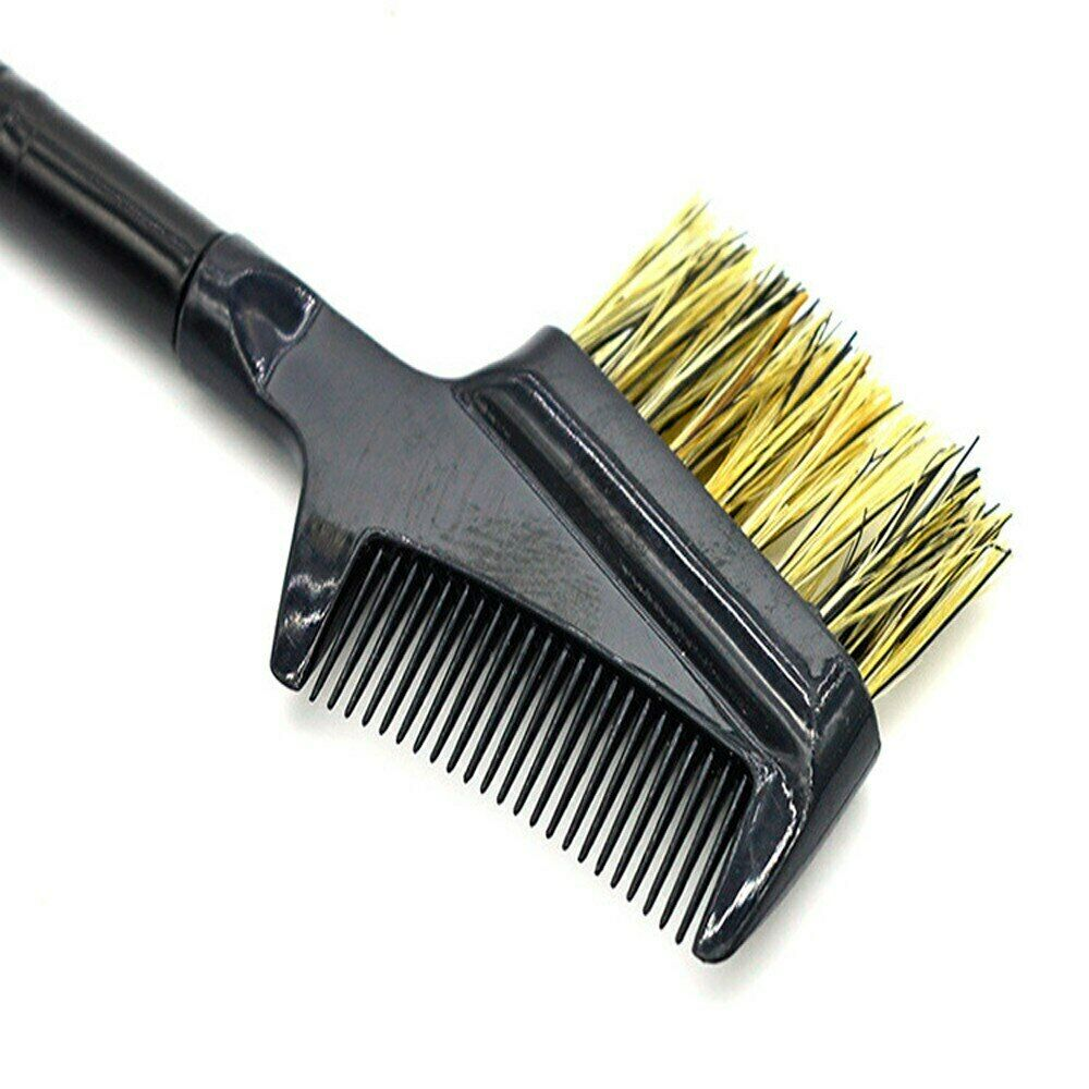Steel Eyebrow & Eyelash Dual Comb & Brush