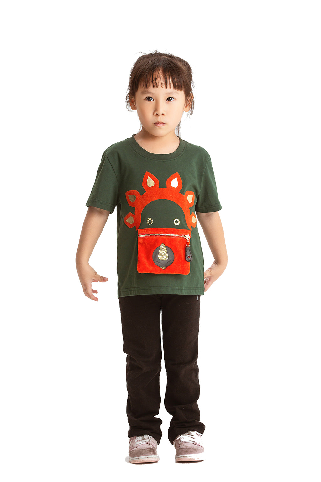 Little Mons T-Shirt for Kids - Green