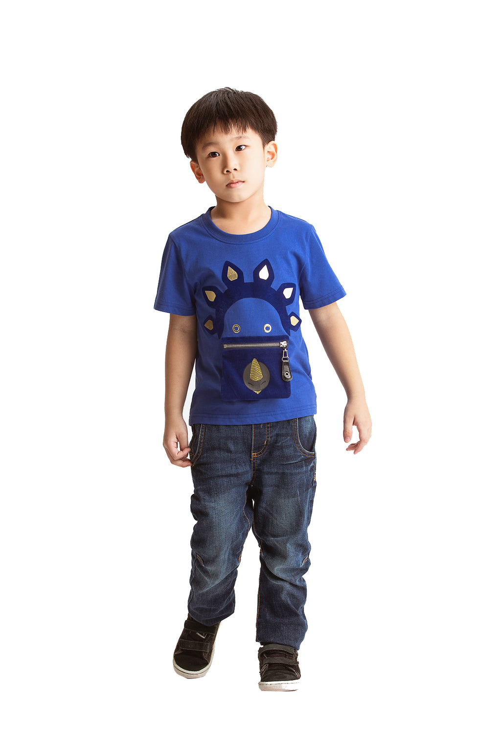 Little Mons T-Shirt for Kids - Blue