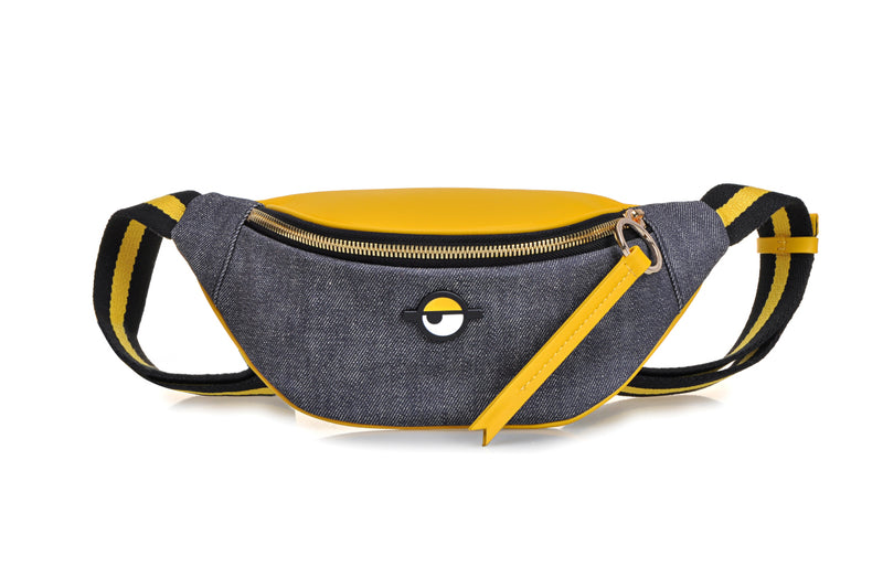 Minions Jacquard with Leather Belt Bag