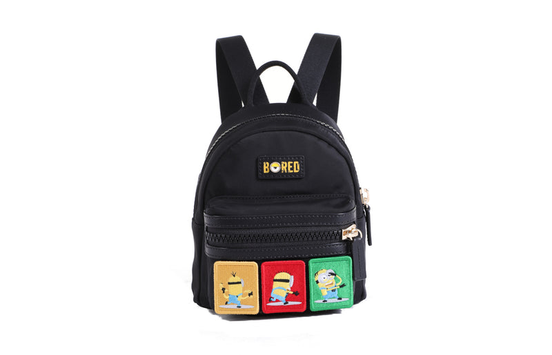 Minions Jacquard with Leather Backpack - Kids
