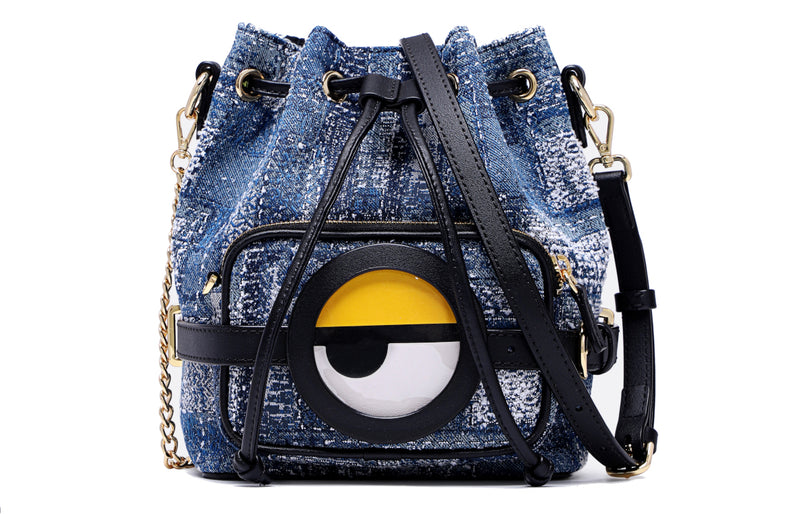Minions Denim with Leather 2 in 1 Shoulder Bag