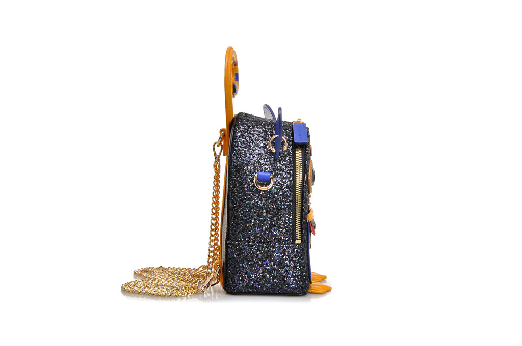Little Mons Jacquard with Leather Backpack Teen