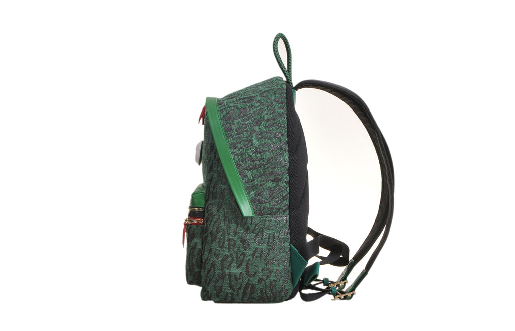 Little Mons Jacquard with Leather Backpack-Extra Large