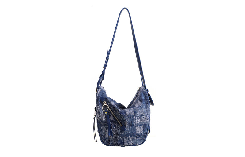 Minions Denim with Cow Leather 4-ways Bag