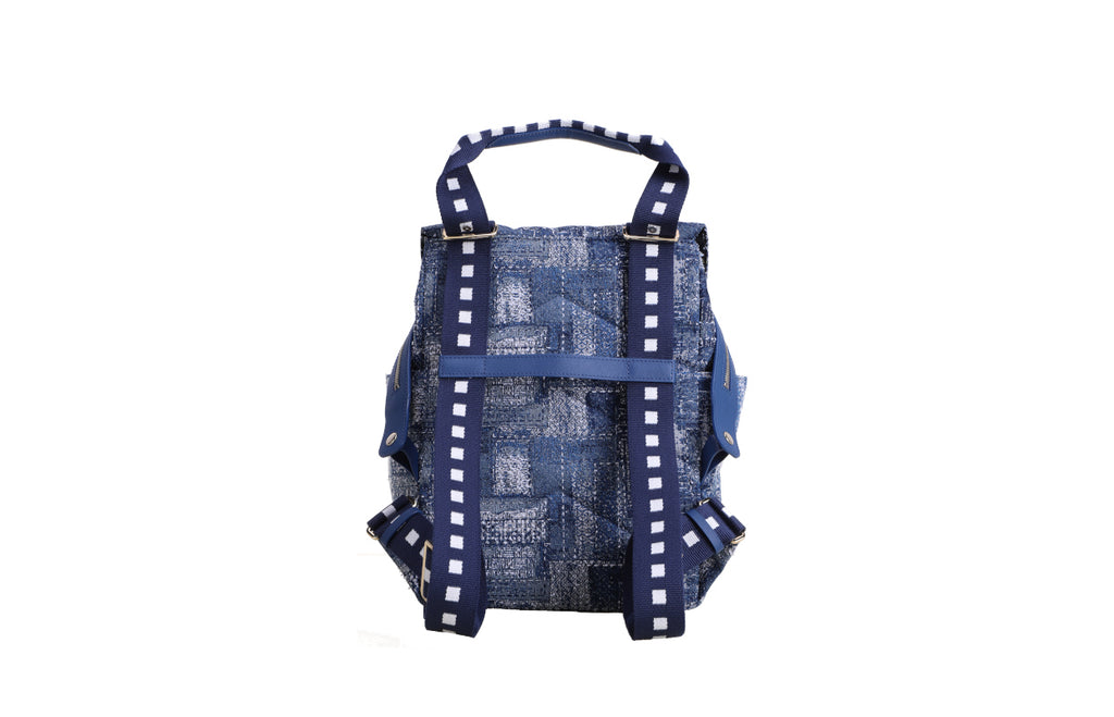 Minions Denim with Cow Leather Backpack