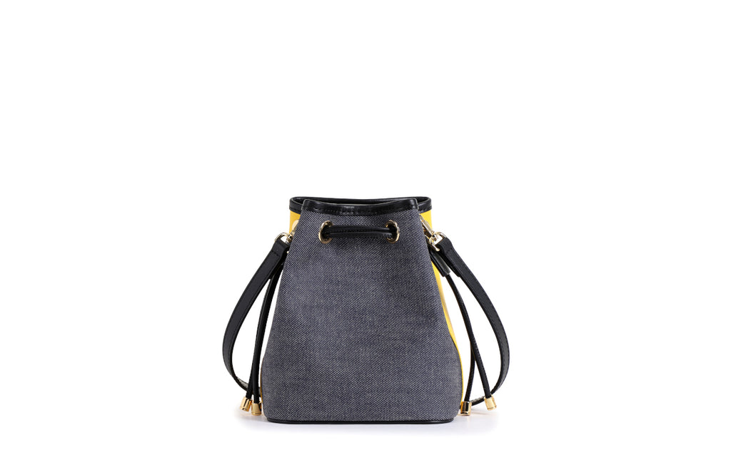 Minions Denim with Leather Shoulder Bag