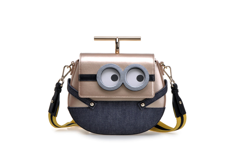Minions Jacquard with Leather Crossbody & Shoulder Bag