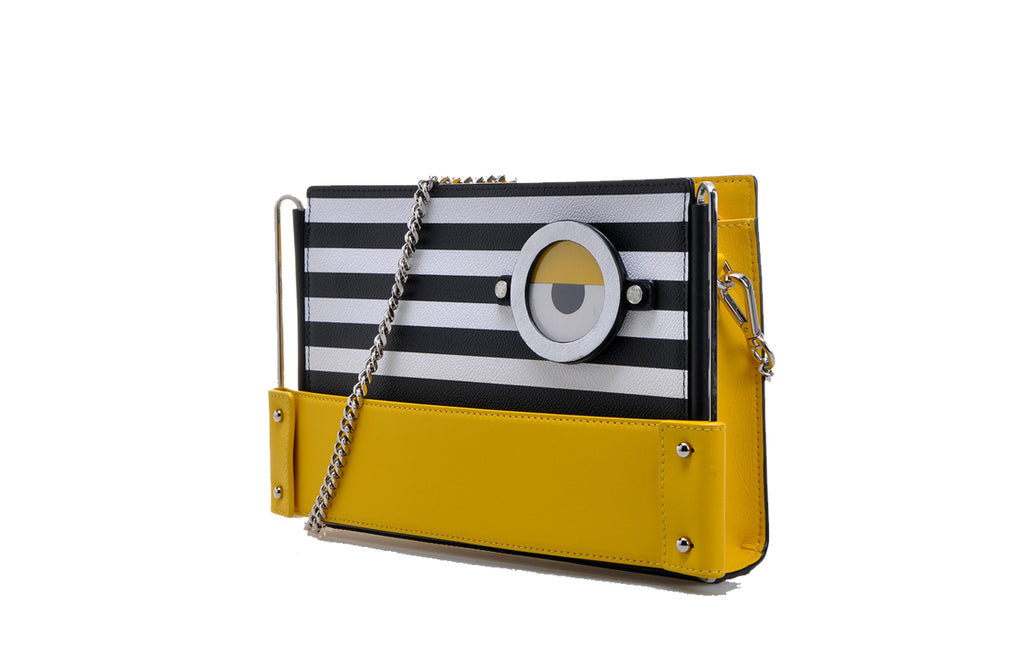Minions PVC with Leather Crossbody & Shoulder Handbag