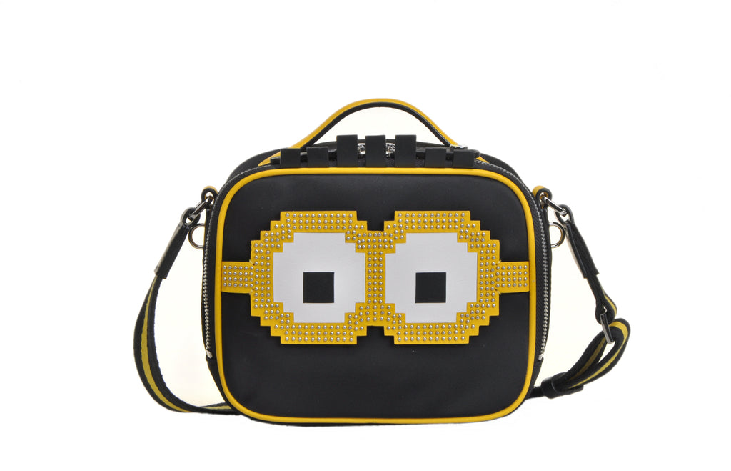 Minions Jacquard with Leather Shoulder Bag
