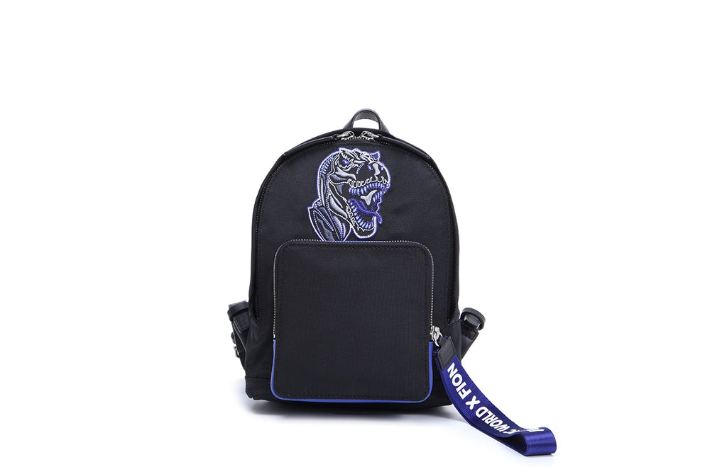 FION X Jurassic World Jacquard with Leather Backpack