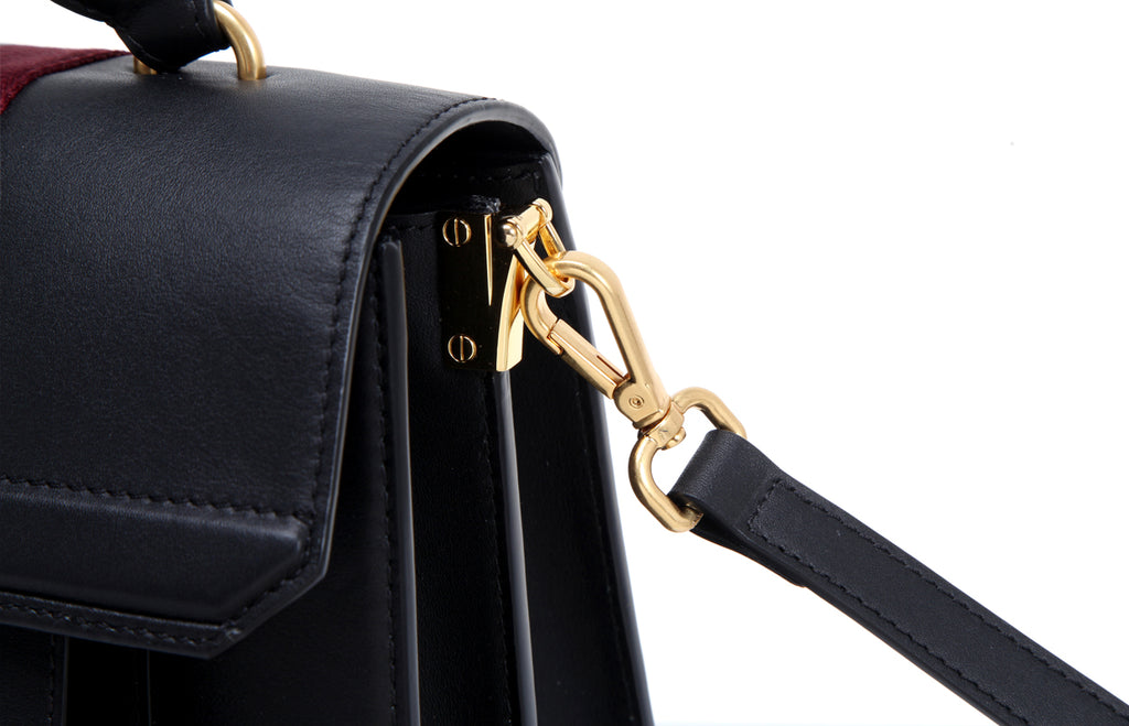 Shine Leather Top Handle Handbag
