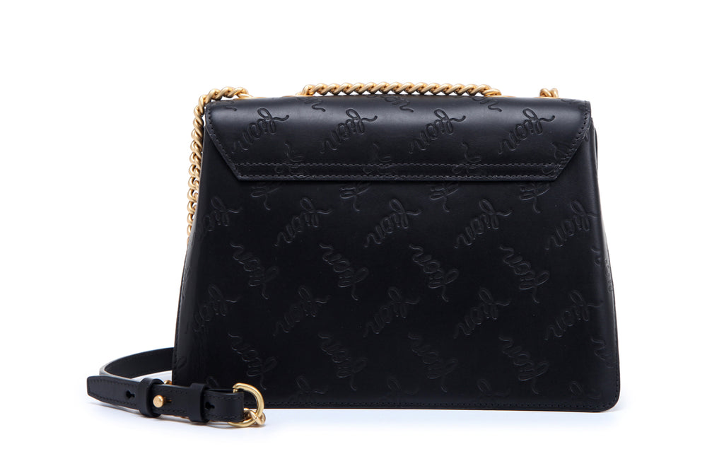 Emboss Leather Crossbody & Shoulder Handbag