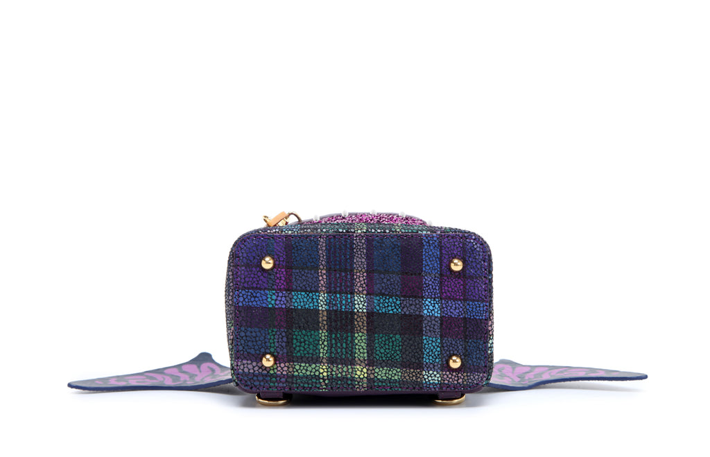 Little Mons Jacquard with Leather Backpack