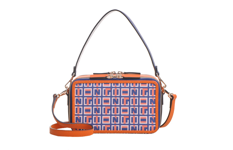 Summer Puzzle PVC with Leather Crossbody & Shoulder Handbag