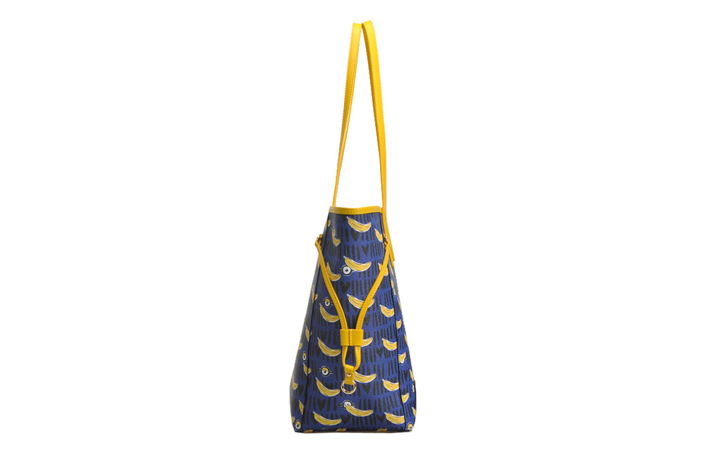 Minions PVC with Leather Tote Bag