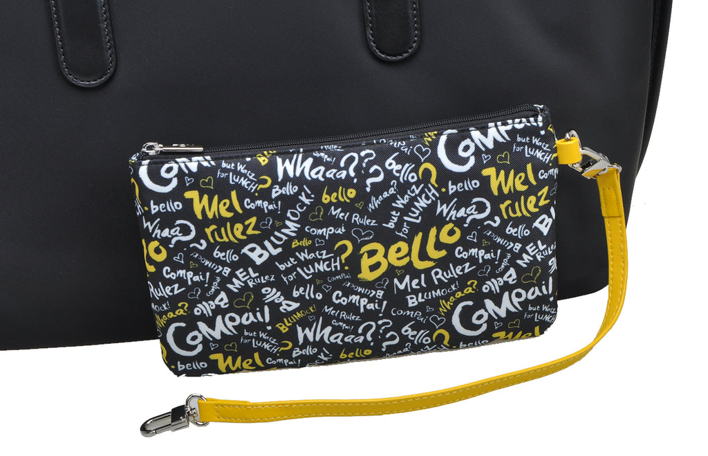 Minions Jacquard with Leather Tote Bag